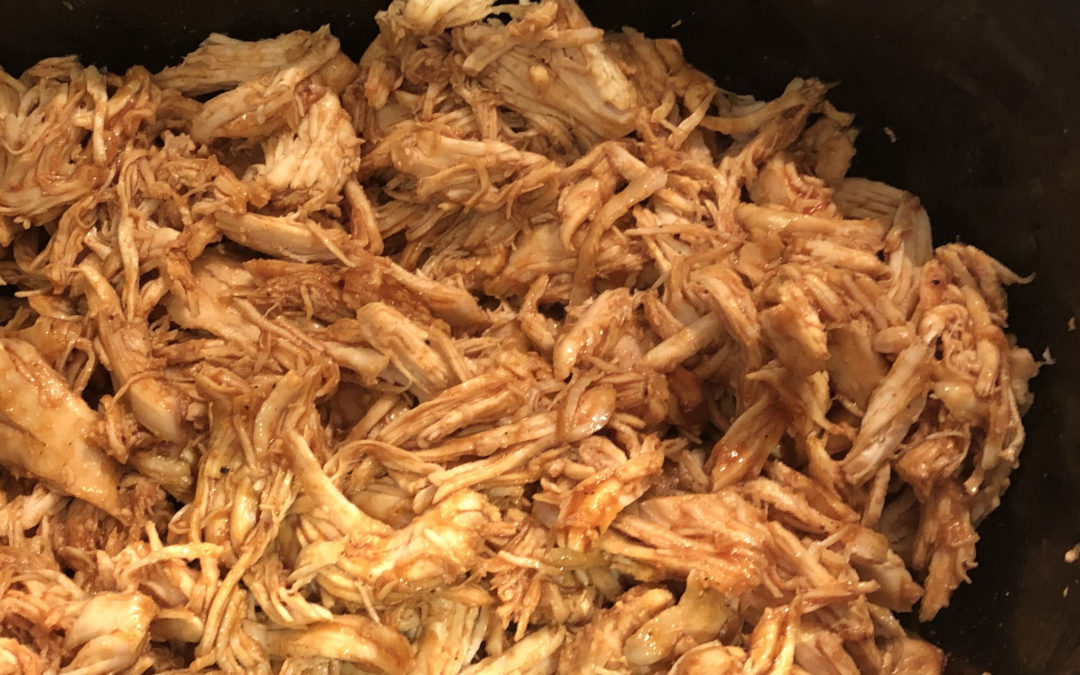 3-HOUR CROCK POT PULLED CHICKEN