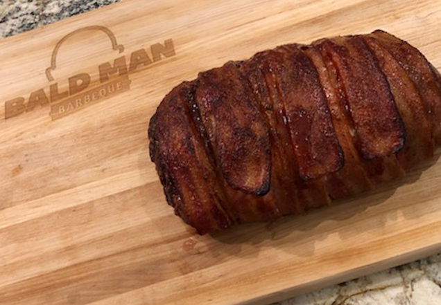 BACON-WRAPPED SMOKED MEATLOAF
